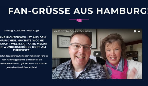 Fan-Grüsse aus Hamburg!